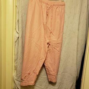 Plus Size Coral Capri, Cotton